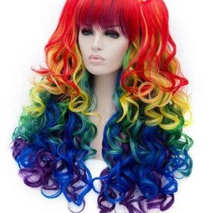 💋 Clearance!! Fun, Playful, Rainbow Wig